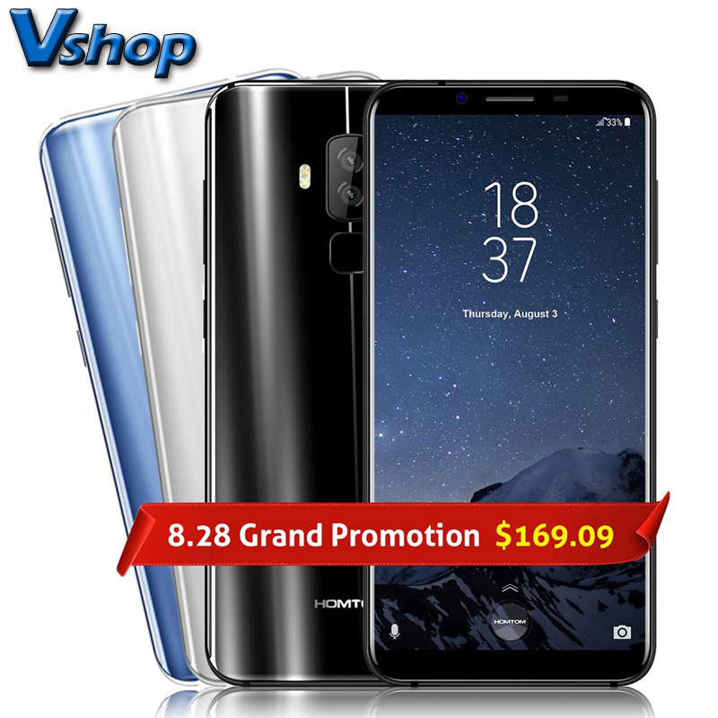 Original HOMTOM S8 4G Mobile Phones Android 7.0 4GB+64GB MTK6750T Octa Core Smartphone Dual Back Cameras 5.7 inch HD Cell Phone