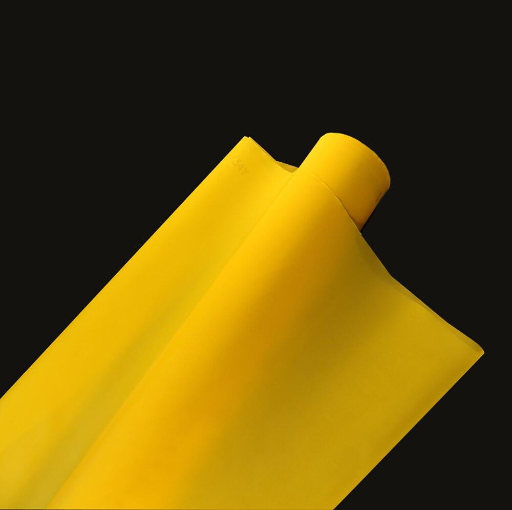 255 maille/100 T jaune 127 cm 30 mètres 100 T Polyester sérigraphie maille-in Écrans pour porte et fenêtre from Bricolage    2