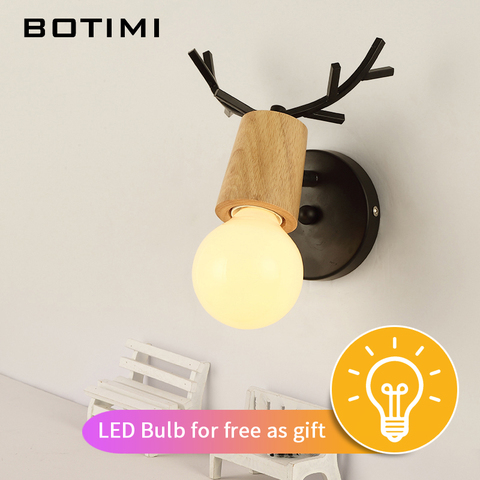 botimi criativo lampada de parede para sala