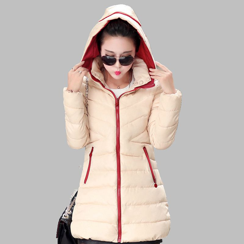 Han edition  2017 New Winter Women Fashionable Cotton-padded Clothes  Hooded  Leisure Loose Big Yards Jacket Coat  A0034 цена 2016