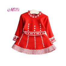 Baby Girls Dress 2018 Autumn Knit Cotton Princess Party Dresses For Kids Clothes Spring Toddler Girls Clothing 2 3 4 5 6 7 Years autumn clothes for baby girls children long sleeve cotton clothing fall girls dresses kids clothes toddler girls wear 7 8 years