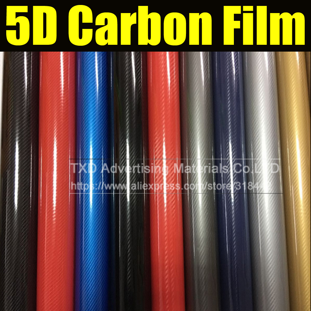 1.52*20 м/roll супер глянцевый Золотой 5d углерода Волокно винил 5D углеродного волокна Обёрточная бумага 5d углерода Волокно плёнки для автомобиля