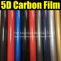 1.52*20m/Roll Super Glossy Gold 5D Carbon Fiber Vinyl 5D Carbon Fibre Wrap 5D Carbon Fiber Film For Vehicle Motorcycle