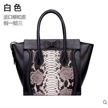 Yuanyu New snakeskin women's bag genuine leather handbag wing bag imported python genuine snakeskin women's bag фото