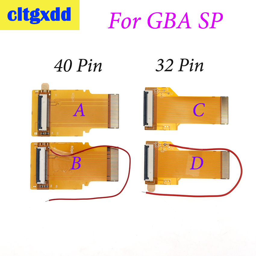 cltgxdd For Nintendo <font><b>GameBoy</b></font> <font><b>Advance</b></font> LCD Screen For GBA SP <font><b>AGS</b></font> <font><b>101</b></font> DIY Backlit LCD Ribbon Cable 40pin/32pin image