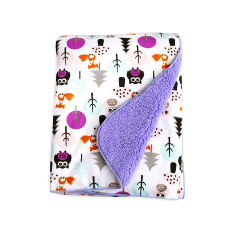 Cartoon Flannel Fleece Blankets Throws Luxury Soft Fuzzy Microfiber Baby Pet Blanket For Single , Travel , Twin , Full , 40*30in