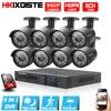 Home Security 1080P 8CH DVR 8PCS 960P 1 3MP 2500TVL IR CUT Black Bullet Waterproof CCTV