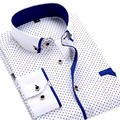 New 2017 Men Dress Shirts Fashion Brand Social Printed Long Sleeved Button-Up Neck Thin Summer Floral Men Casual Shirts Slim Fit