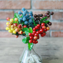 5pcs/lot Artificial berry colorful bean foam flowers home decor small fake flower fruit branch decoration accessories plant