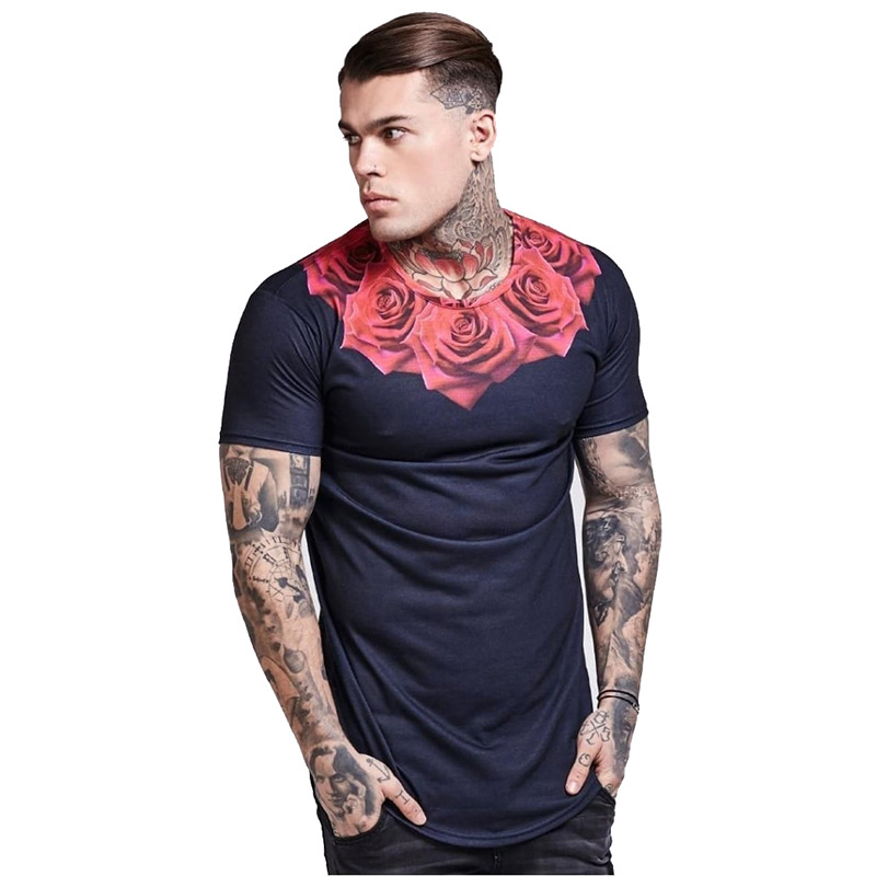 Summer Sik Silk   t     Shirt   Men Hip Hop Camisetas Hombre Streetwear Camiseta Masculine Fitness Tshirts Gyms Crossfit   T  -  shirt   Male