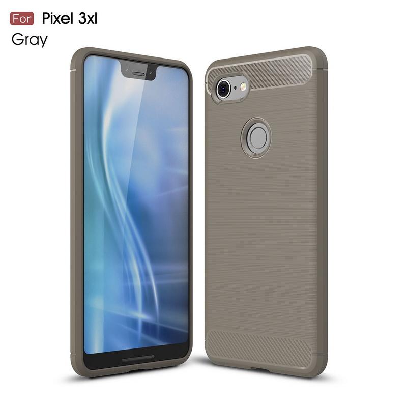 For Google PIXEL 3 XL 2 Cases Soft Silicon Carbon Fiber Matte Anti-Knock Back Cover For Nexus PIXEL 2 XL 3 Shells Case