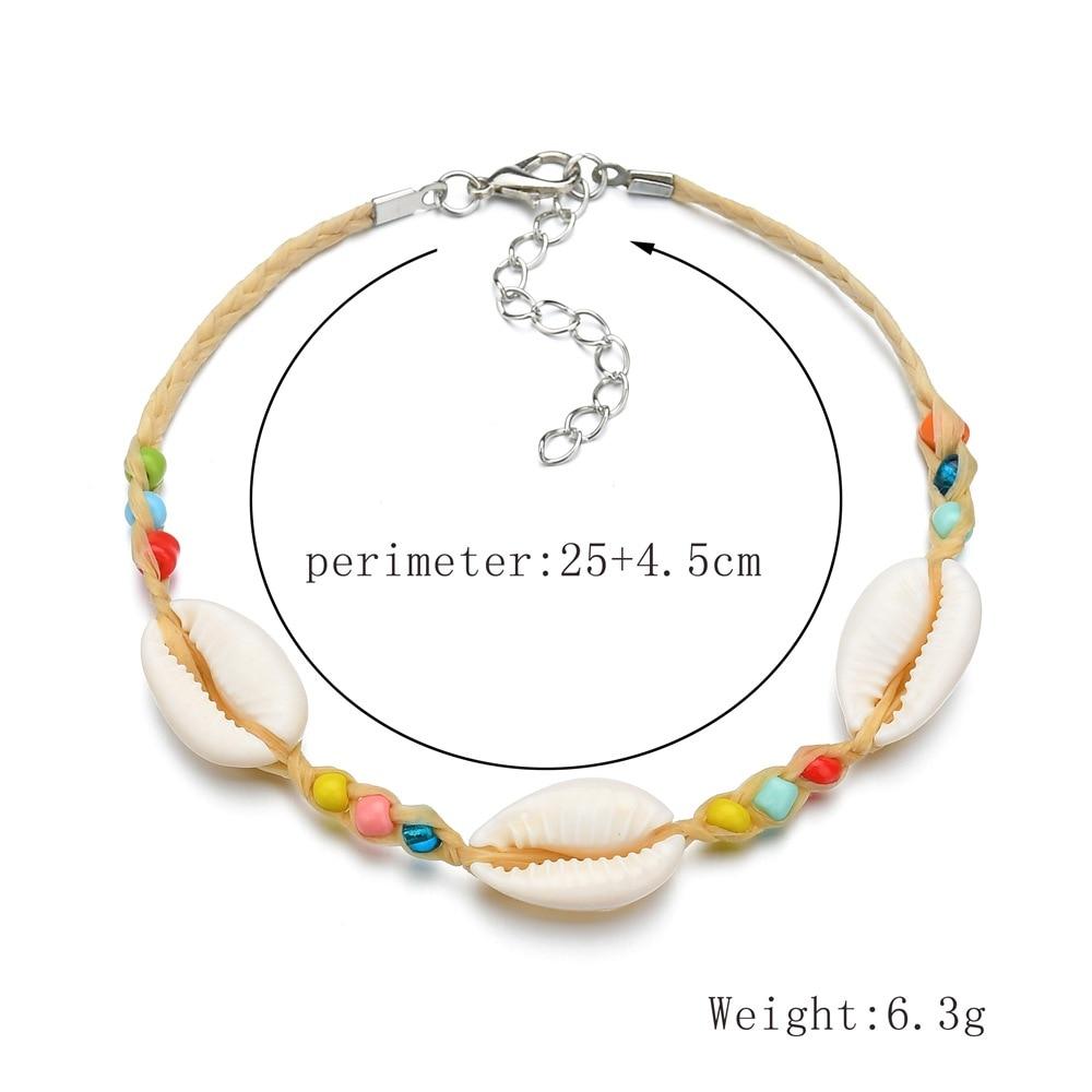 Boho Seashell Bracelet Handmade Natural Shell Bracelets for Women/Femme Colorful Hand-woven Femme Bracele 2019