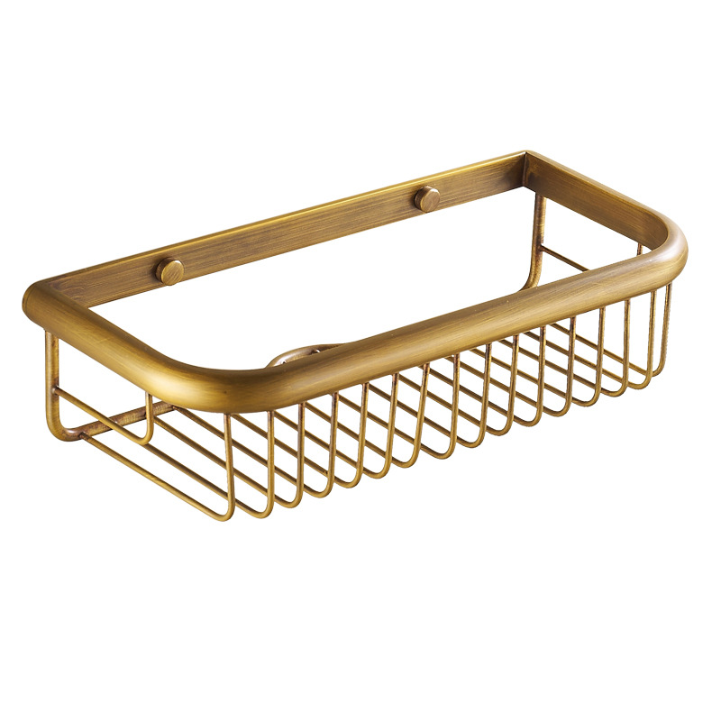 A Shelf 58 15c 5 Chrome Pull Out Basket: AUSWIND Vintage Bronze Brushed Solid Brass Basket Long