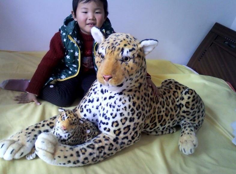 stuffed animal 108 cm leopard plush toy simulation doll great gift w527 stuffed animal 145cm plush tiger toy about 57 inch simulation tiger doll great gift w014