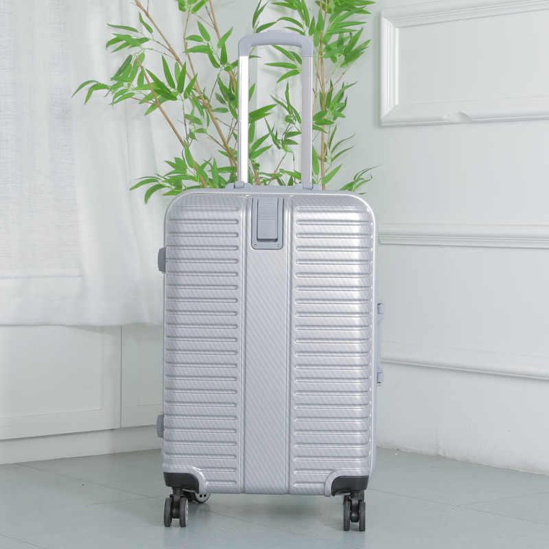 20/26 cala podróż walizka na kółkach kabina hardside bagaż aluminiowa rama Rolling bagaż Spinner kobiety moda mężczyźni wózek