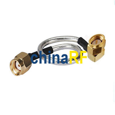 Wifi antenna extension cable SMA male RA to RP SMA male pigtail RG405 10cm
