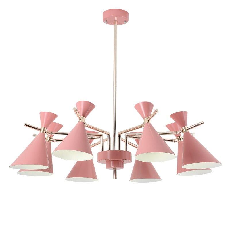 Nordic Современные Простые подвесные светильники люстры Гостиная Детская комната светодиодный Hangling лампы красочные металла абажур в украшен