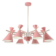 цена на Nordic modern simple pendant lights lustres living room Kids Room LED hangling lamp colorful metal lampshade in decoration home