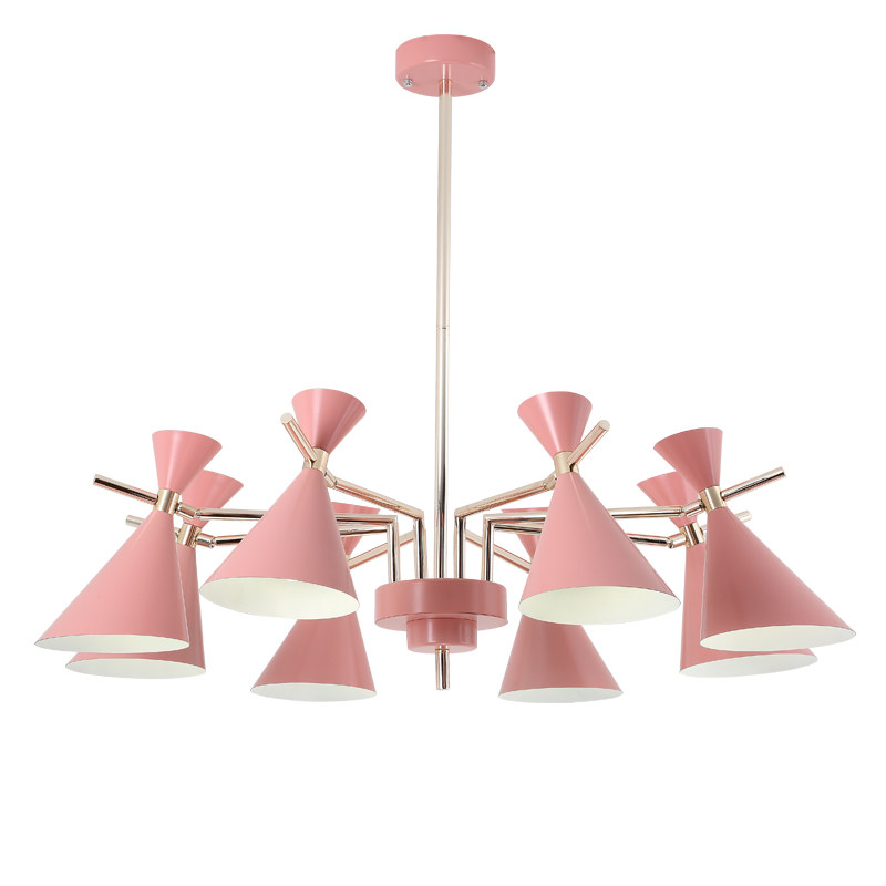 Nordic modern simple pendant lights lustres living room Kids Room LED hangling lamp colorful metal lampshade in decoration home