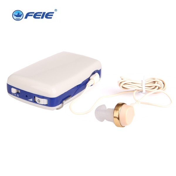 FEIE Ear Voice Amplifier Deaf Hearing Aid Devices with Belt Clip online S-6A free shipping analog bte hearing aid deaf sound amplifier s 288 deaf aid with digital processing chip free shipping