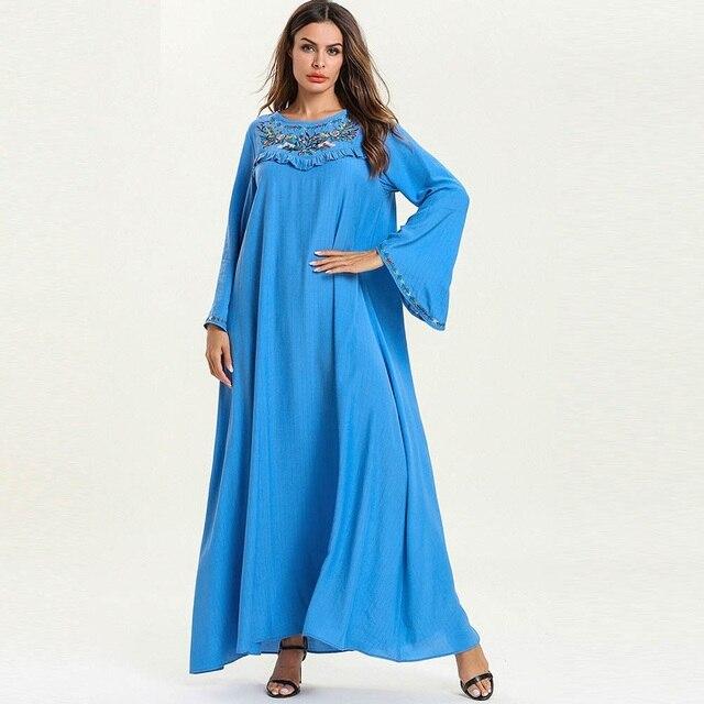newest d9576 7e50a Schwangere frau Jubah Langarm Kleider Muslimischen Kleidung Maxi Abaya baju  moslemisches abaya M2