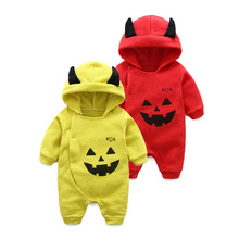 Baby long-sleeved cotton conjoined pumpkin light monster baby infants clothing  0-1 year old  L199