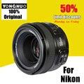 Yongnuo yn 50mm f/1.8 lente af foco automático grande abertura yn50mm aperture para nikon dslr camera como af-s 50mm 1.8g