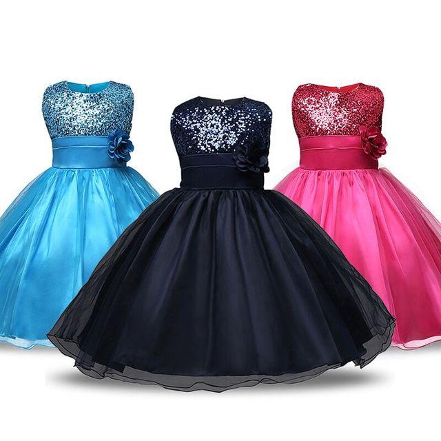1a2a4acc8 4-12 años adolescentes niñas vestido de fiesta de boda princesa lentejuelas  vestido para niña fiesta disfraz niños vestidos para niñas ...
