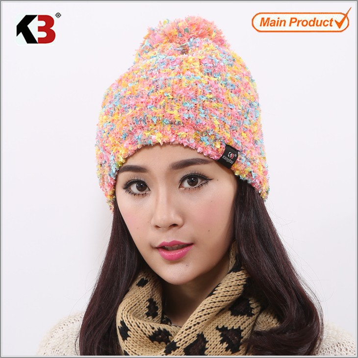 Double Sided Cuffed Ball Top Winter Knit Hat Established Ball Top Winter Knit Hat (1)