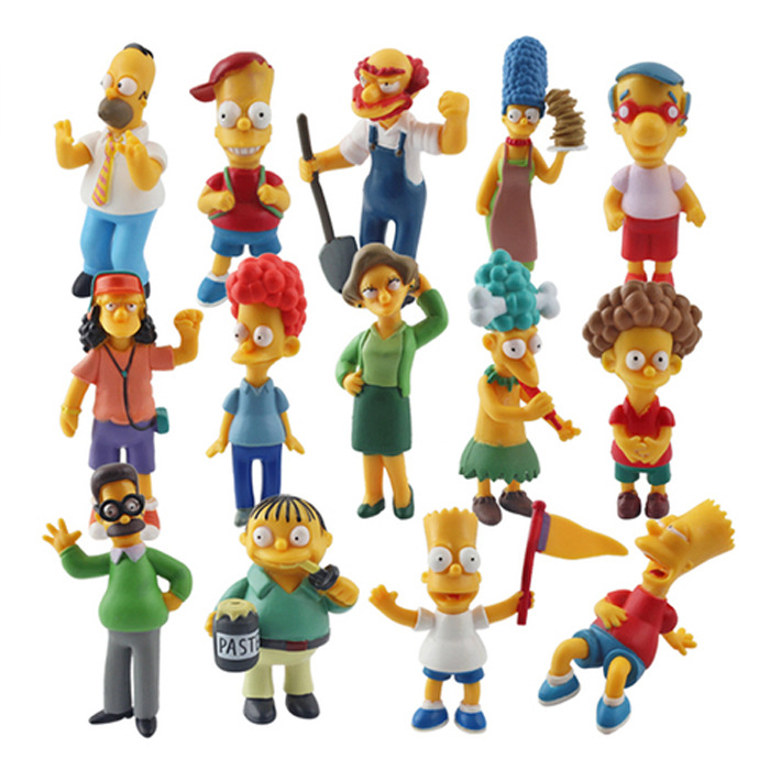 Rapture 6-12cm 14 Pcs/set The Simpsons 2018 New The Simpsons Collection Figure Toy Home Desk Decoration Action Figure Children Toys Action & Toy Figures