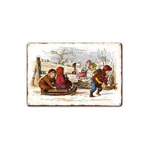 Image 5 - Merry Christmas Santa Claus Elk Gift Windbells Skiing Baptism Retro Metal Tin Signs Home Wall Art Decor Iron Poster for Bar Pub