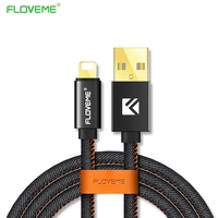 FLOVEME USB Cable for iPhone 7 6 6s 5 iPad 4 mini Air iOS 2.1A Fast Mobile Charger Original 1m Phone Data Cables