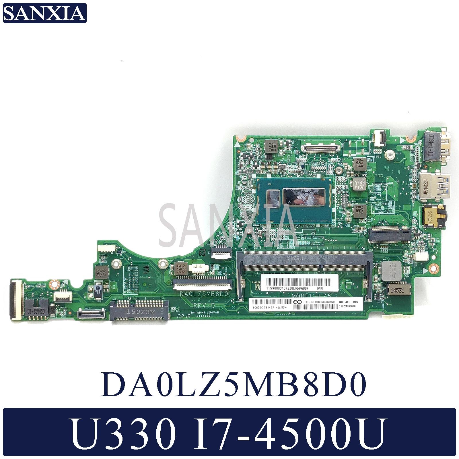 KEFU DA0LZ5MB8D0 Laptop motherboard for Lenovo IdeaPad U330 U330P U330T original mainboard I7 4500U