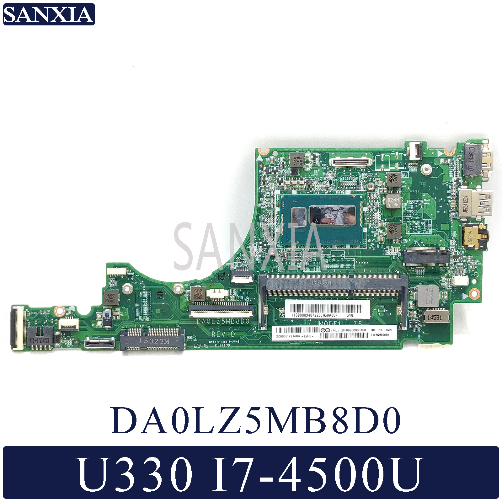 KEFU DA0LZ5MB8D0 Laptop motherboard for Lenovo IdeaPad U330 U330P U330T original mainboard I7-4500UKEFU DA0LZ5MB8D0 Laptop motherboard for Lenovo IdeaPad U330 U330P U330T original mainboard I7-4500U