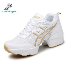Купить с кэшбэком Low Top Fitness Breathability Teachers Latin Salsa Jazz Modern Dance Shoes Women Shoes Dancing Sneakers Ladies Shoes Modern