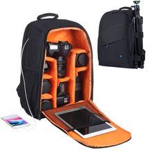 PULUZ Открытый Портативный водостойкий устойчивый к царапинам двойной плечи рюкзак камера аксессуары сумка цифровой DSLR фото видео сумка