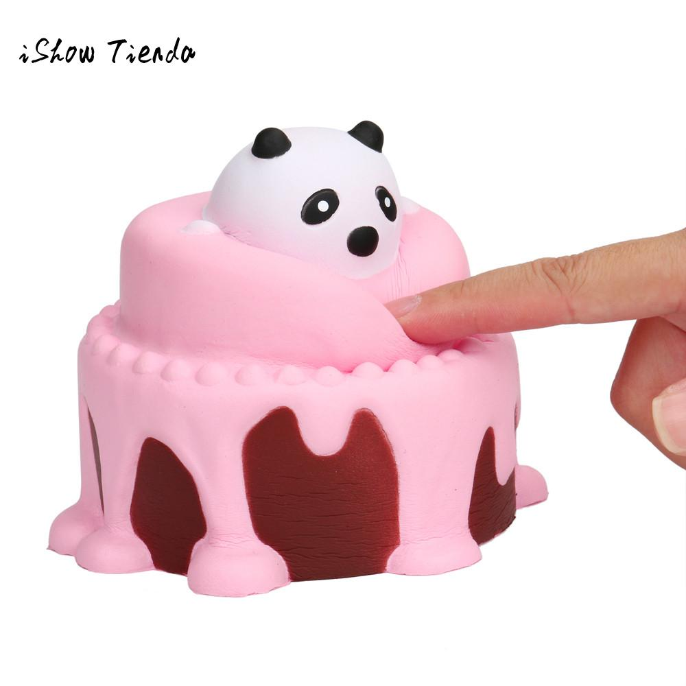 ISHOWTIENDA Squeeze Cake mochi squishy Slow Rising Cream Scented Decompression antistress toy a rally prank toys practical jokes