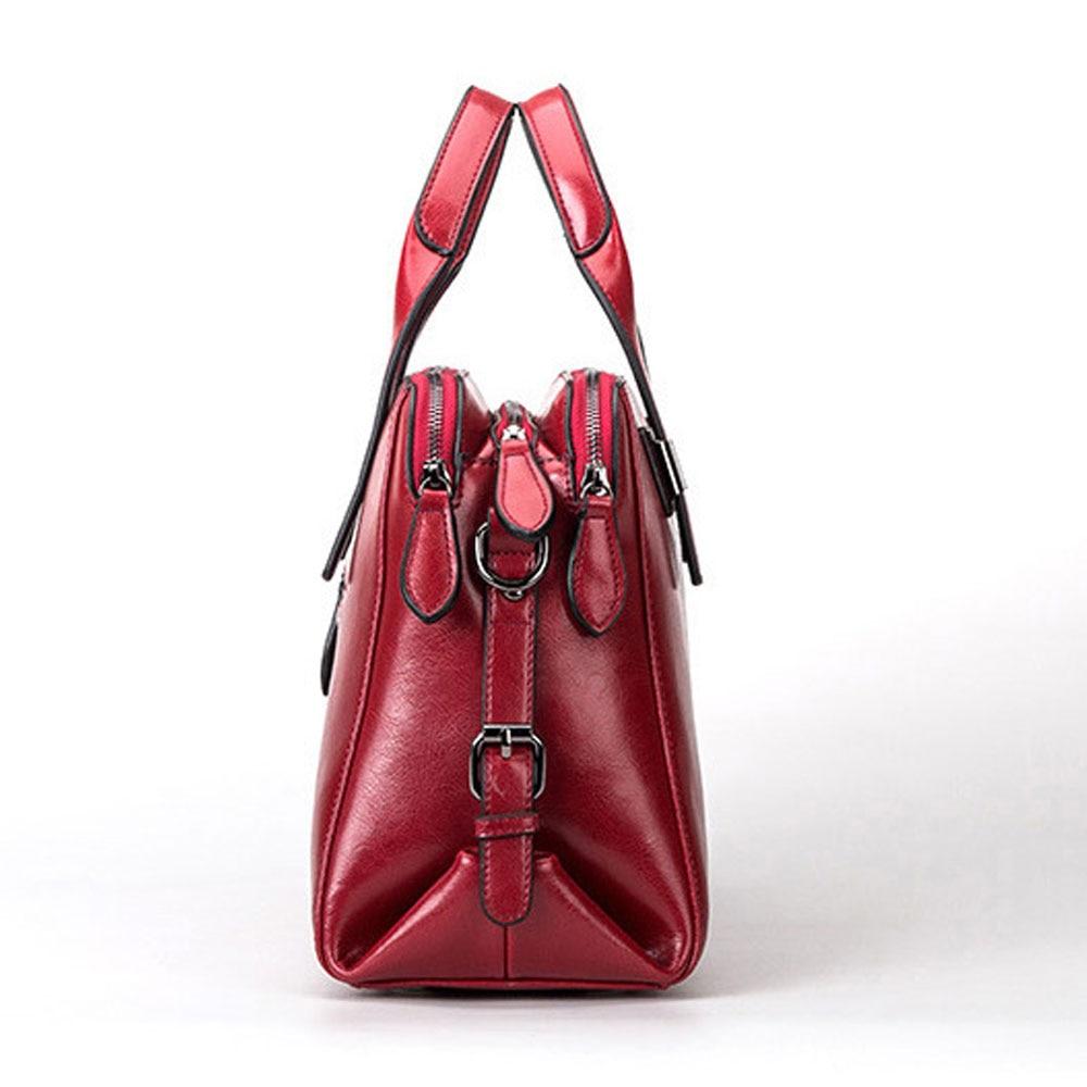 DIGERUI femmes en cuir véritable sacs Totes Messenger sacs Designer de luxe marque sac femme sac à main en cuir de vache sacs à main SJ011-in Sacs à poignées supérieures from Baggages et sacs    2