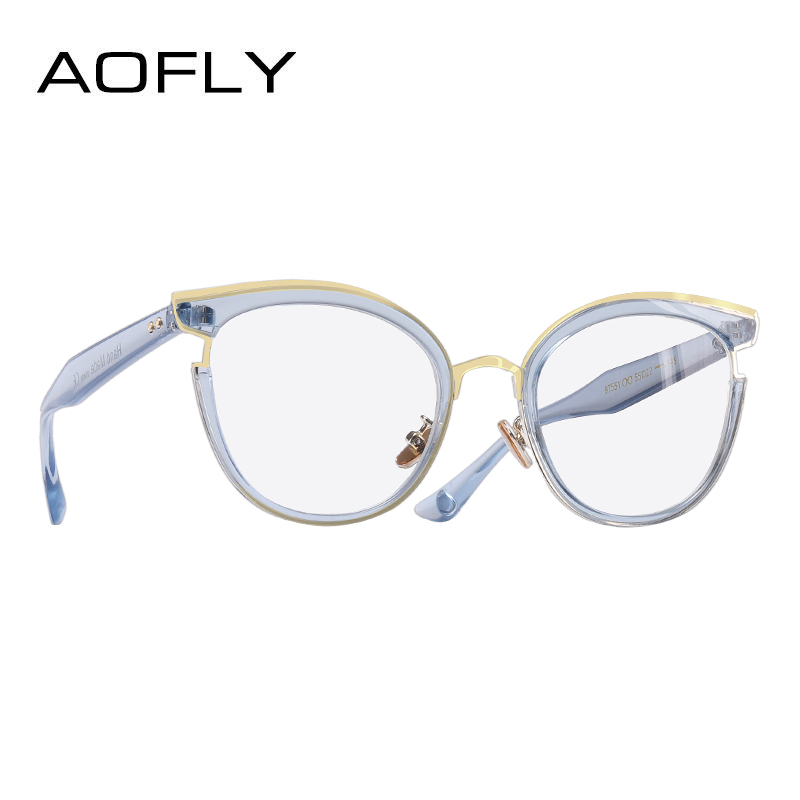 5e0b0d8fa3c AOFLY BRAND DESIGN Elegant Style Cat Eye Eyeglasses Frame Reading  Spectacles Women Plain Glasses Frame Optical
