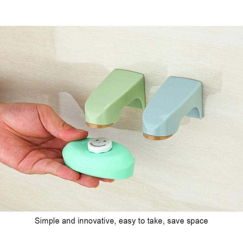 Home Innovative Bathroom Wall-mounted Soap Holder Magnet Soap Absorber Free Punch Drain Soap Box Sucker