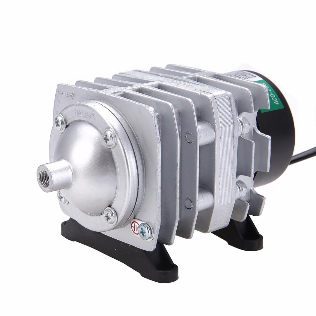 1pc Oxygen Pond Air Pump Electromagnetic Air Compressor Aerator 45L/min 25W For Aquarium