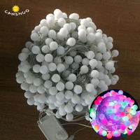 DHL Free 100m 600led Ball string lights Waterproof Fairy lights garland lamps for outdoor Christmas wedding party decoration