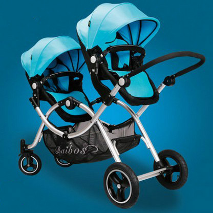 The twins baby cart before and after high child baby stroller double landscape can sit down original smal king qj50qt 5 pulley city after baby qj50qt 2 rounds after rejection