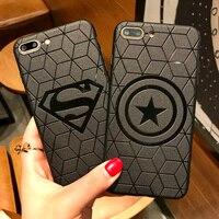 100PCS 3D Touch Case For IPhone X 8 7 Plus 6S Soft Silicone Relief Phone Case For IPhone 7 6 S Plus Back Cover Superman Batman
