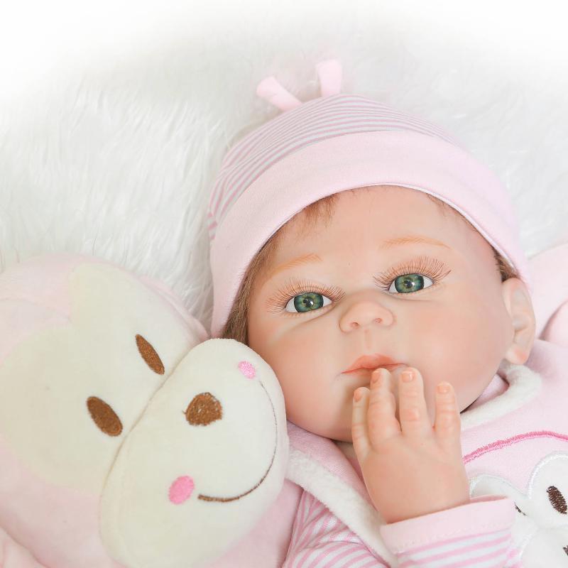 NPKDOLL 50 cm corps complet Silicone Reborn poupées réaliste bébé garçon fille poupées reborn bebe Boneca Reborn Realista enfant jouets cadeau - 4