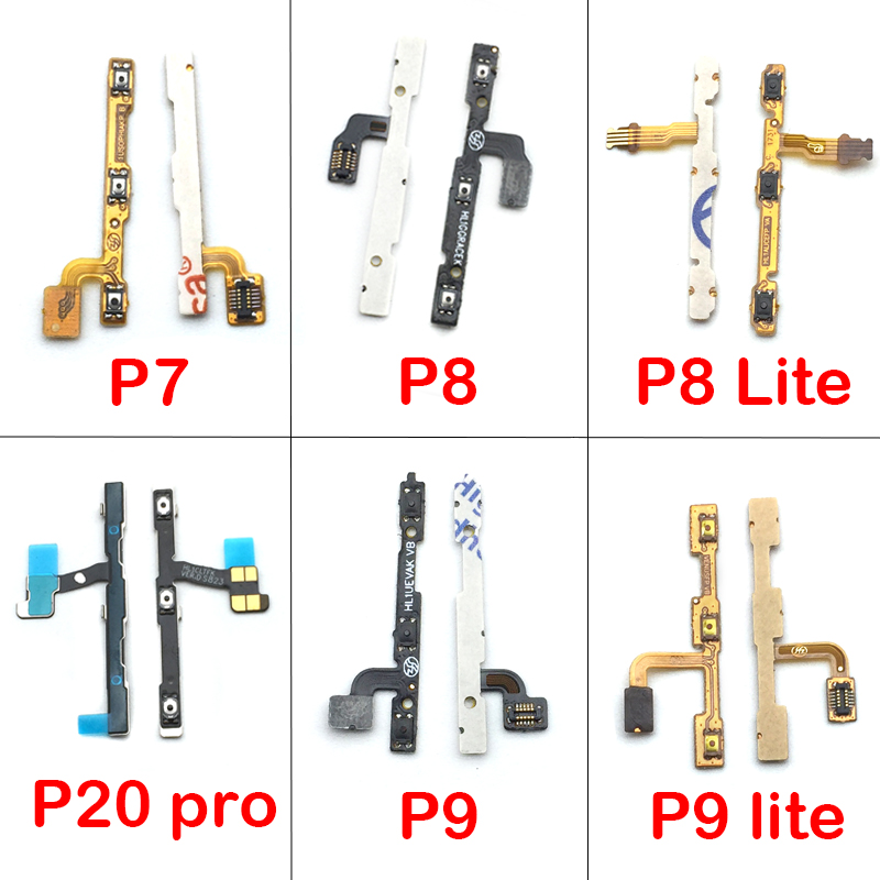 Power On Off Volume Up Down Button Key Flex Cable For Huawei P7 P8 P9 P10 P20 Lite Pro Mate 10 Nova 2s 3 3i Replacement Parts