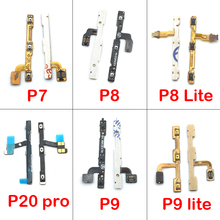 Power On Off Volume Up Down Key Flex Cable Dla huawei P7 P8 P9 P10 P20 Lite Pro mate 10 nova 2 s 3 3i Części Zamienne(China)