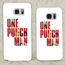 One Punch Man Transparent Hard PC Case Cover For Samsung Galaxy S 3 4 5 6 7 Mini Edge Plus Note 3 4 5 7