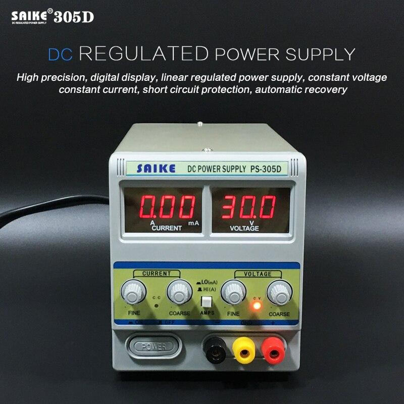 SAIKE 305D 30 В 5A 220 В DC регулируется питания регулируемый Напряжение регулятор регулируется питания