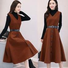 Стильное шерстяное платье футболка и свитер